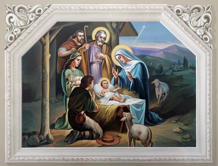 Photo pour Nativity Scene - image libre de droit