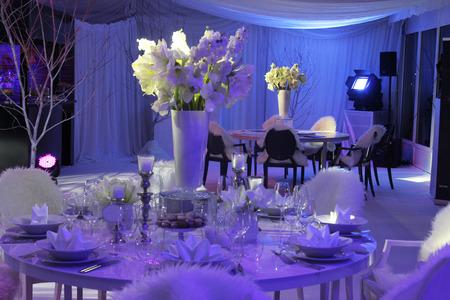 Photo pour Beautiful table set for wedding - image libre de droit