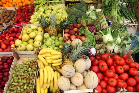 Photo pour Fruits and vegetables - image libre de droit