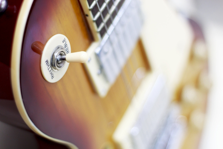 Photo for guitar close-up, potentiometers, volume controls on the guitar - Royalty Free Image