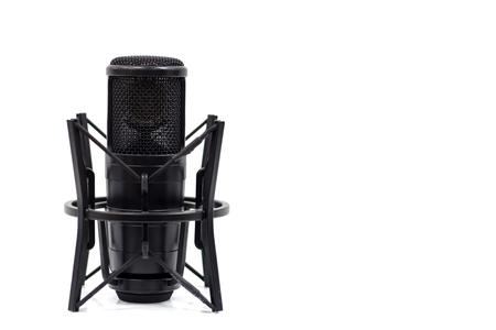 Photo pour Studio microphone isolated on a white background. Condenser - image libre de droit