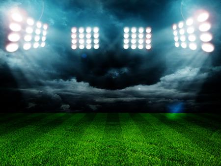 Photo for stadium lights at night and stadium - Royalty Free Image