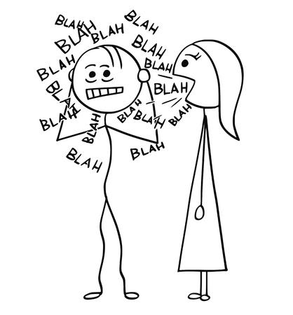 Illustration pour Cartoon stick man drawing - image libre de droit