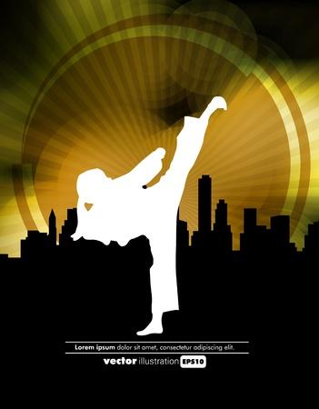 Sports. Karate illustartion
