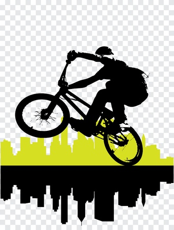 Vector of BMX cyclist mural