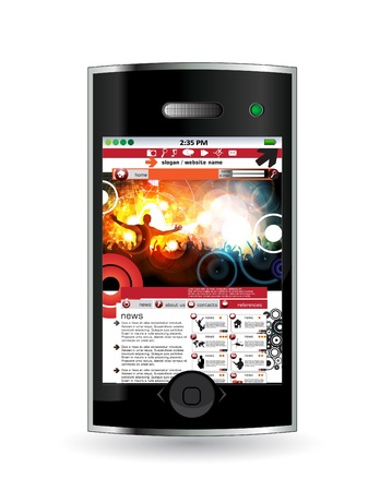 Smart phone with music application