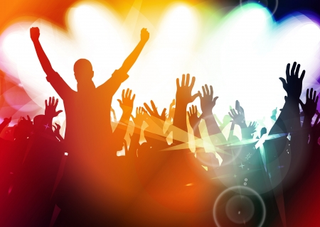 Photo for Concert crowd in front of stage - Royalty Free Image