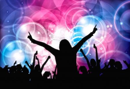 Foto de Dancing people  Clubbing illustration - Imagen libre de derechos