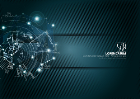 Illustration pour Abstract technology concept background ready for presentation, vector illustration - image libre de droit