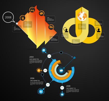 Ilustración de Business infographic elements data visualization vector design - Imagen libre de derechos