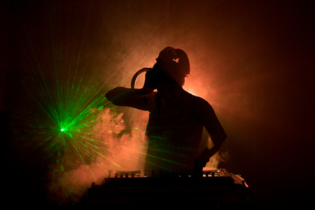 Photo for DJ Spinning, Mixing - Royalty Free Image