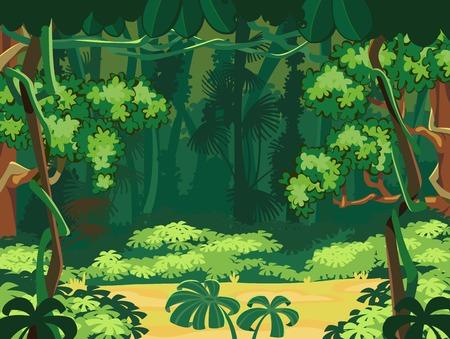 Illustration pour Forest Glade  Beautiful Landscape Background  - image libre de droit