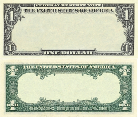 Photo for Clear 1 dollar banknote pattern for design purposes - Royalty Free Image
