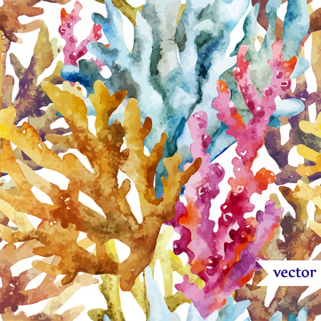 Illustration pour colorful Corals background  - image libre de droit