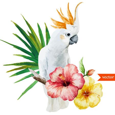 Illustration pour white parrot - image libre de droit