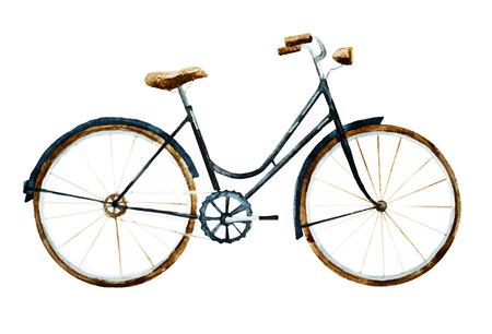 Illustration pour Beautiful image with nice watercolor bike - image libre de droit