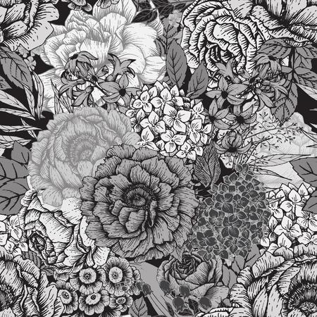 Illustration pour Beautiful vector image with nice hand-drawn floral pattern - image libre de droit