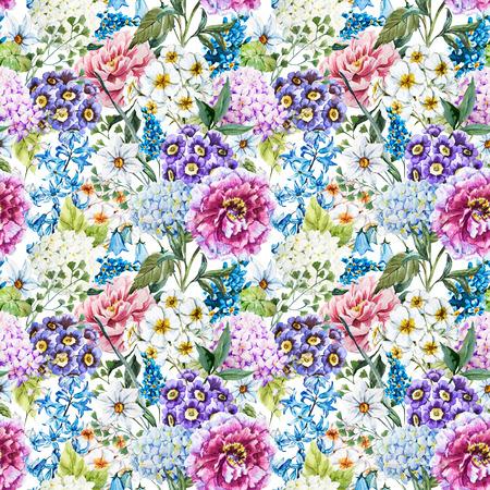 Foto de Watercolor floral pattern - Imagen libre de derechos