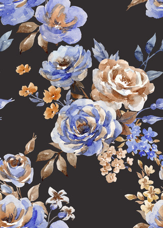 Illustrazione per Seamless abstract floral vector pattern - Immagini Royalty Free