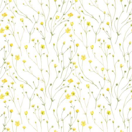 Ilustración de Watercolor floral vector pattern - Imagen libre de derechos