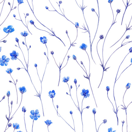 Illustration pour Watercolor floral vector pattern - image libre de droit