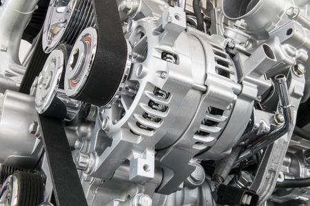 Foto de Car engine closeup Part of car engine - Imagen libre de derechos