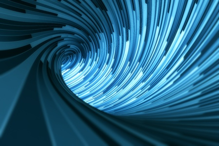 3d rendering of a blue tunnel
