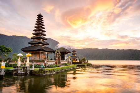 Photo for Pura Ulun Danu Bratan, Hindu temple on Bratan lake, Bali, Indonesia - Royalty Free Image