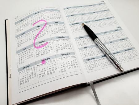 Foto de Book Calendar 2019 isolated on neutral background - Imagen libre de derechos