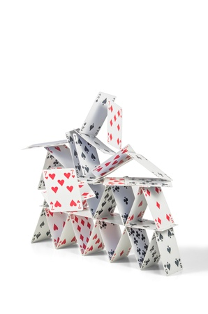 collapsing house of cards