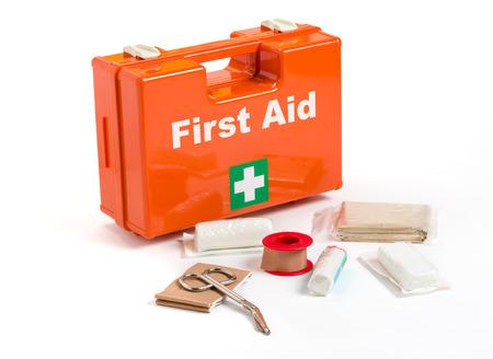 Foto de First Aid Kit with dressing material - Imagen libre de derechos