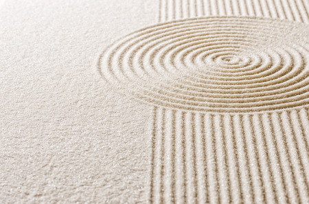 Photo for Sand with lines and circles - Royalty Free Image