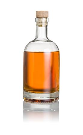 Photo pour Whisky bottle on a white background - image libre de droit