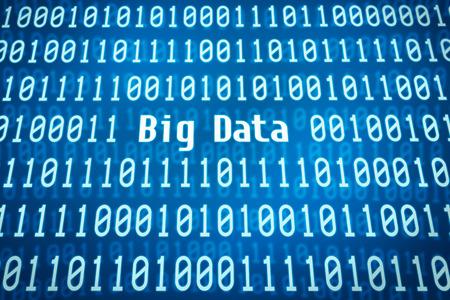 Foto de Binary code with the word Big Data in the center - Imagen libre de derechos