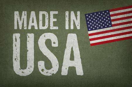 Photo pour Made in USA - image libre de droit