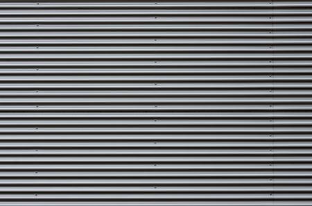 Foto de Corrugated sheet metal facade - Imagen libre de derechos
