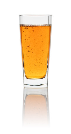 Foto de A glass with iced tea on a white background - Imagen libre de derechos