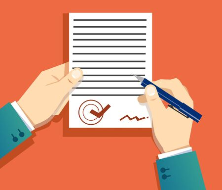 Photo pour signing a document - image libre de droit