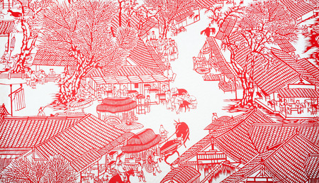 Photo for Chinese paper-cut crafts - Royalty Free Image