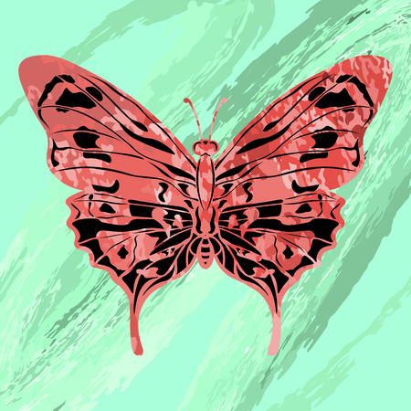 Watercolor butterfly design vector illustration