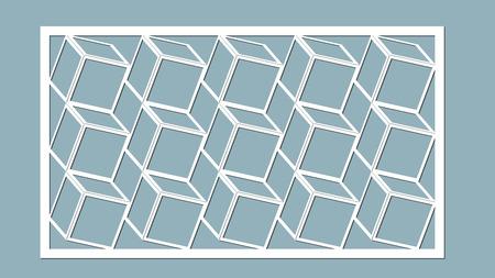 Vector illustration of seamless cube pattern.