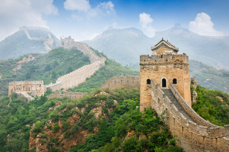 Photo pour Great Wall in Beijing in China - image libre de droit