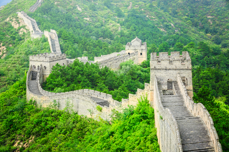 Foto de The famous Great Wall of China,jinshanling natural landscape - Imagen libre de derechos