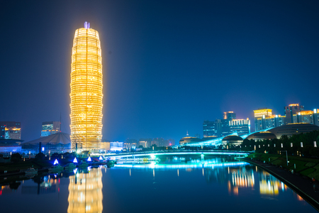 Photo for Zheng dong new district landmark building. - Royalty Free Image