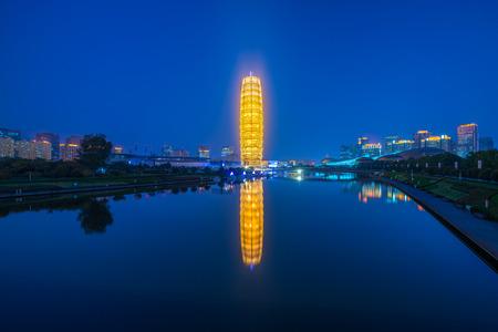 Photo for The zhengzhou big corn building at night - Royalty Free Image