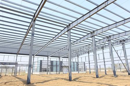 Foto de The steel structure, is under construction - Imagen libre de derechos