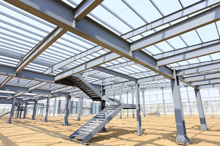 Photo pour The steel structure, is under construction - image libre de droit