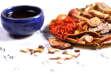 Foto de Chinese herbal medicine close up view - Imagen libre de derechos
