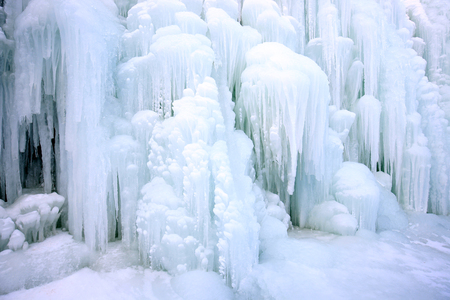 Photo for Waterfall formed icicle - Royalty Free Image
