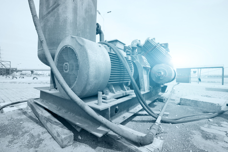 Foto per Machinery and equipment at the shipyard. - Immagine Royalty Free